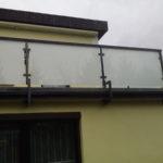 Geländer mit Glas